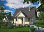 Проект небольшого уютного дома с мансардой